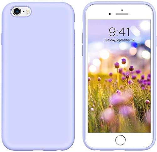 iPhone 6s Plus Case iPhone 6 Plus Case Liquid Silicone, GUAGUA Soft Gel Rubber Slim Lightweight Microfiber Lining Cushion Texture Shockproof Protective Phone Cases for iPhone 6 Plus/6s Plus Purple