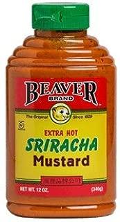 Beaver Extra Hot Sriracha Mustard, 12 Ounce Squeeze Bottle