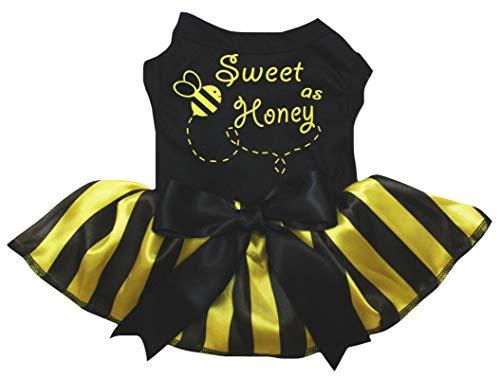 Petitebelle Sweet As Honey Puppy Vestido para perro (negro, XXL)