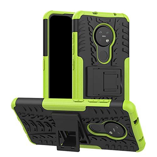 betterfon | Nokia 6.2/7.2 Hülle Outdoor Handy Tasche Hybrid Hülle Schutzhülle Panzer TPU Silikon Hard Cover Bumper für Nokia 6.2/7.2 Grün