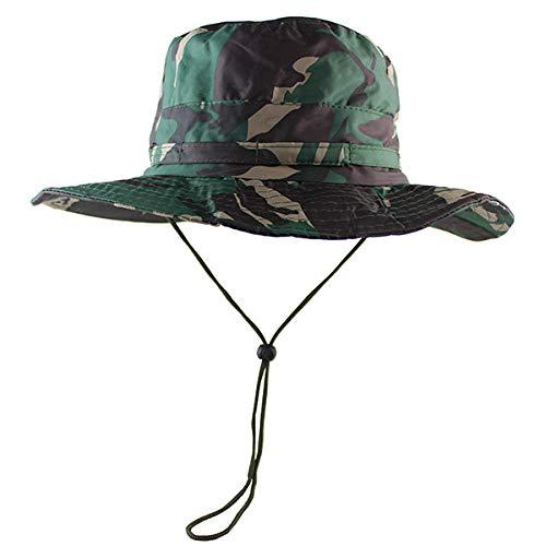 Fischerhüte Angeln Hüte wasserdicht UPF50 Taktische Airsoft Sniper Camouflage Boonie Hüte Militärarmee Mens Bucket Hat Militärfischen Wandern Sun Hats @ CP