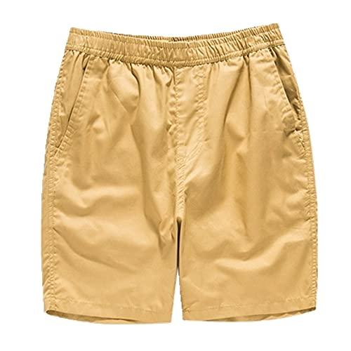 Pantalones Cortos de Verano básicos de Verano Pierna Ancha Femenina cómoda algodón Suelto Casual