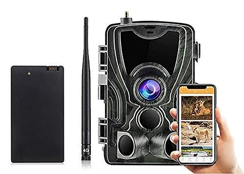 Velocit/à Trigger 0.3S Invisibili IR LEDs Visione Notturna 65ft Impermeabile IP65 4G Fotocamera da Caccia MMS con Batteria al Litio 5000Mah 1080P 16MP Fototrappola Infrarossi Fotografica