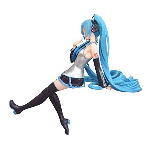 VENDISART Tasse NudelpuppeHatsune Miku Figur PVC ModellSpielzeug 14cm