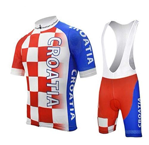 Braetan - Country Jerseys - Love Your Country! Cycling Jerseys & Sets Collection - Team Croatia Men's Short Sleeve Cycling Jersey & Short Set - Jersey & Short Set - L