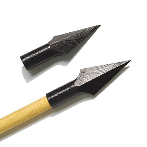 SHARROW 6 Piezas Tiro al Arco Caza Punta de Flecha Consejos Tradicionales de Flechas Broadhead para Flechas de Madera Bambú