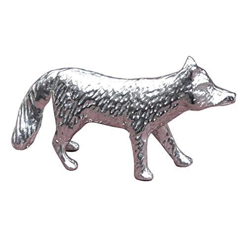 Fuchsfigur, Kleiner Fuchs, Fuchsgeschenk, Handgegossen von William Sturt, aus Deutsche Zinn (Pewter)