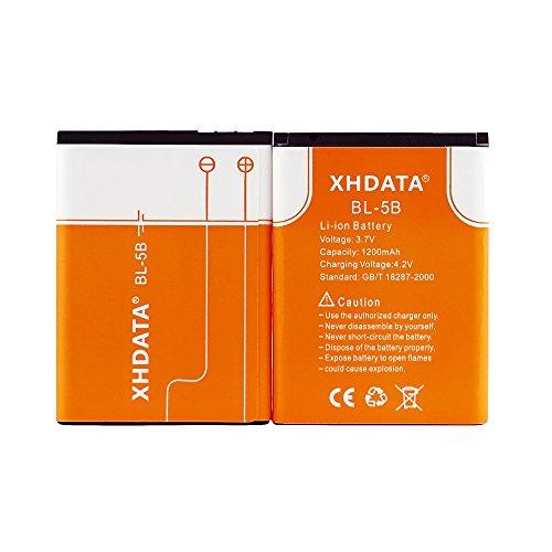XHDATA BL-5B 3.7V 1200mAh Batteria ricaricabile agli ioni di litio per telefoni cellulari Nokia Akku 2 pezzi