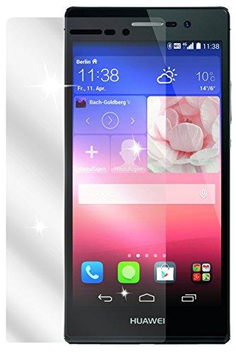 Ecultor I 4x Schutzfolie klar passend für Huawei Ascend P7 Folie Displayschutzfolie (2x Vorder- u. 2x Rückseite)