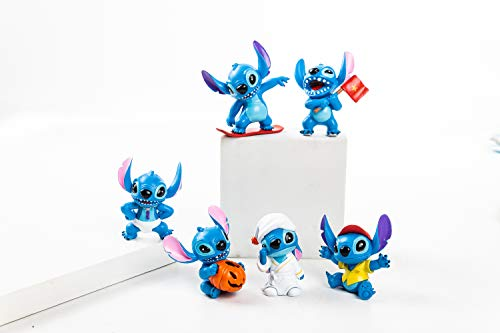 ATII Lilo & Stitch Mini Figures for Cake Topper collection set of 6 and Kids' Playing toys