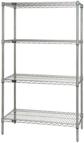 Quantum Chrome Wire New item Shelving Starter Kit 54i 24in.D - x 42in.W New popularity