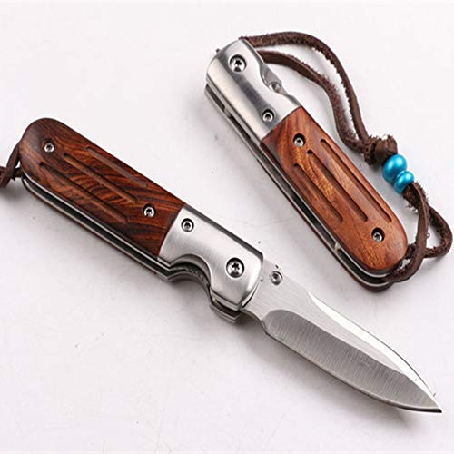 NH Sharp Pocket Knife Wood Handle Arrow Knife Safe Liner Lock Army Saber Outdoor Camping Hunting Travel Travel Tools Best Buy from Outdoor Gear Lab SpeedSafe,3.52 oz