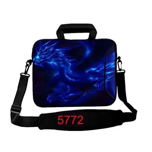 9.7 10.1 11.6 12.1 13.3 14.1 15.4 15.6 17.3 17.4Laptop Shoulder Bag Tablet Sleeve PC Case for Macbook HP Asus Acer HP Lenovo (Color : 5772, Size : 15 inch)