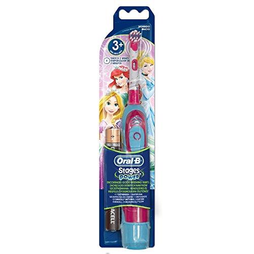Oral-B - Cepillo de dientes eléctrico (funciona con pilas), diseño de princesas...