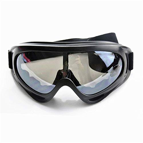SunAll Motorrad-Brille Sport Bike-Brille Gläser Schutzbrille PC Linse Brille Radfahren Schneemobile Skibrille Schutzbrille Outdoor-Motorrad-Sonnenbrillen Brillen Transparent (Color : Gray)