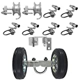 6' Chain Link Rolling GATE Hardware KIT: (Chain Link Fence Gate Parts) (6' Rut Runner, 2 Track Wheels, 6 Track Brackets, 1 Rolo Latch)