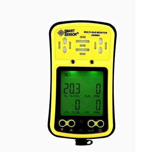 Coffre-fort Moniteur de gaz multi numérique Oxygène/Hydrothion/Monoxyde de carbone/Combustile 4in1 Compteur de gaz Détecteur Testeur Analyseur Écran LCD de poche Écran LCD rétro-éclairé Batterie