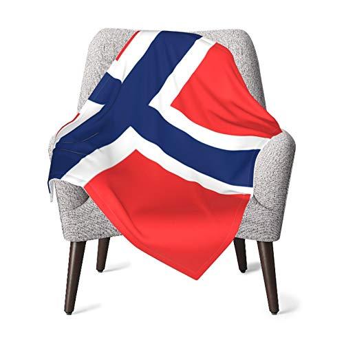 Babydecke Flanell-Fleece weich und warm Flagge von Norwegen Babydecke Flanell Fleece weich und warm Kinder Kleinkind Junge Kinderwagen Bett Decke Plüsch 101,6 x 127,7 cm