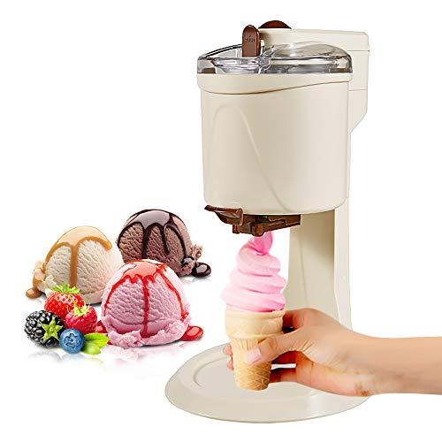 Máquina de helado eléctrica, mini máquina de helado suave de frutas, máquina de sorbete de bricolaje, haciendo deliciosos helados saludables y yogur de frutas congeladas para niños de la familia