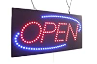 """オープンサイン24""""、スーパーブライト高品質LEDオープンサイン、ストアサイン、ビジネスサイン、ウィンドウサイン"""