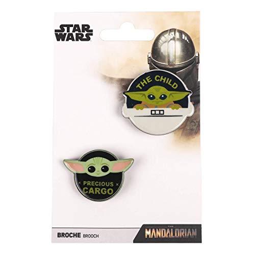 Cerdá Broche Decorativo para Ropa The Mandalorian-Licencia Oficial Star Wars, Unisex Adulto, Varios, Pequeño