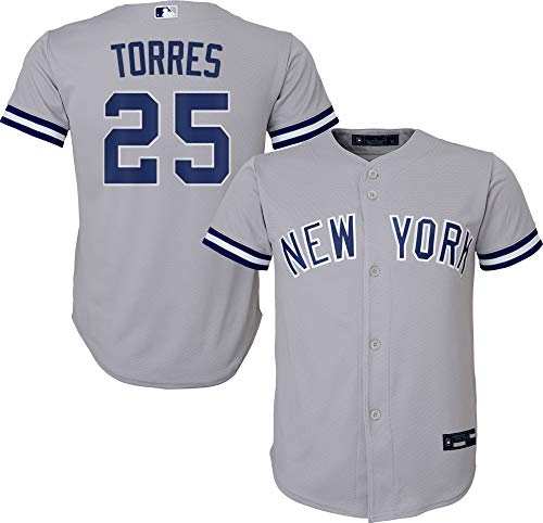 Outerstuff Gleyber Torres New York Yankees #25 Gray Youth 8-20 Road Player Jersey (14-16)