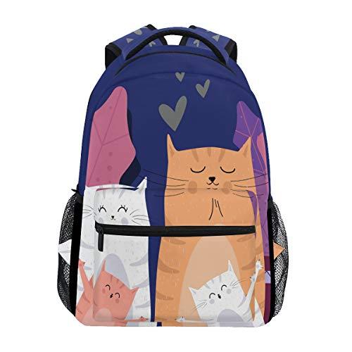 Lustiges CAI Kätzchen Studentenrucksack Kinderrucksack Büchertasche Schülerrucksack mit Laptop Rucksäcke für die Reise Teen Mädchen Jungs