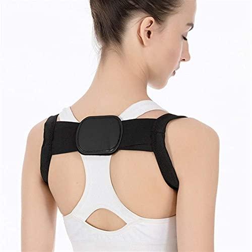 FWEOOFN Corrector de Postura de Espalda Terapia de corsé Cinturón de Soporte de Columna Lumbar Corrección de Postura de Espalda Vendaje para Hombres Mujeres (Color: Negro, Tamaño: Grande)
