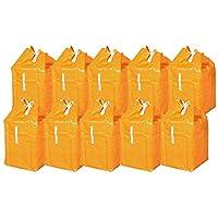 オリタニ 受入ワゴン・カート各種ランドリーワゴン用ポリカバー 10枚組 オレンジ 02080810