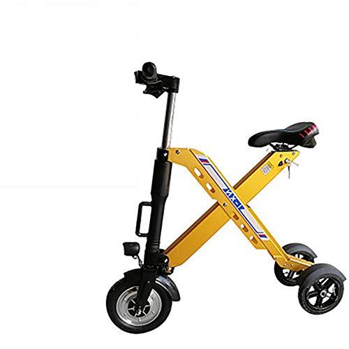 zhangfengjiao Mini Scooter eléctrico Plegable portátil de Dos Ruedas batería de Litio Scooter tamaño del neumático Delantero 10 Pulgadas después de 8 Pulgadas Distancia de conducción 35-40 km