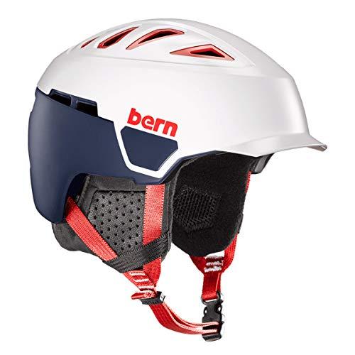 BERN, Heist Brim Snow Helmet, MIPS Satin Patriot, Large