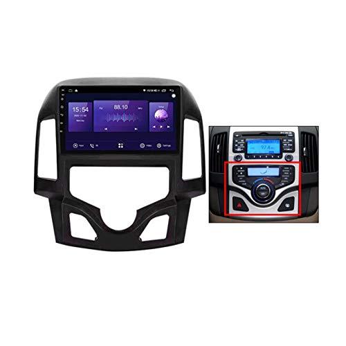 Yuahwyehe Android Car Stereo Radio De Coche 9 Pulgadas Unidad Principal Reproductor Multimedia Receptor De Video Carplay para Hyundai-h I30 2006-2011 Android Autoradio,A7862,6G+128G