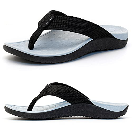 Movego Womens Orthotic Flips Flops Sandals, Plantar Fasciitis Arch Support Sandals for Flat Feet, Proven Heel and Foot Pain Relief Comfortable Walk