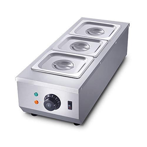 LJXiioo Kommerzielle Schokoladentemperiermaschine 1500W 30 ℃ ~ 80 ℃ 3 * 1,6 l Töpfe 3 Zylinder Automatische Temperaturregelung Heißschokoladen-Heizschmelzmaschine