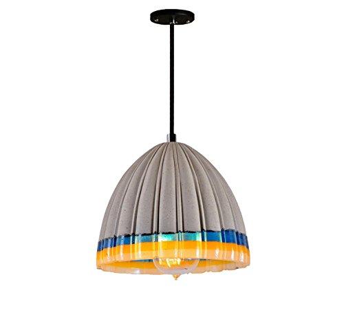 GRFH Lampade a Sospensione in Cemento Tridimensionale a Colori Shade Fold Serie Lampada a Sospensione in Cemento Lampada da Cucina in Resina Cemento E27 110V-240V, a