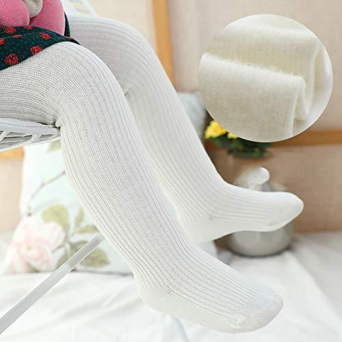 SanQing LOVE Les Filles d'hiver Doux Pantalons Collant Tight Knit bébé Leggings Couleur Chaude Chaussettes Longues pour Nourrissons Chaussettes Enfant en Bas âge Convient pour 0-10 Ans Filles,Blanc,L