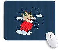 VAMIX マウスパッド 個性的 おしゃれ 柔軟 かわいい ゴム製裏面 ゲーミングマウスパッド PC ノートパソコン オフィス用 デスクマット 滑り止め 耐久性が良い おもしろいパターン (フライングエースサンタフルブリード)