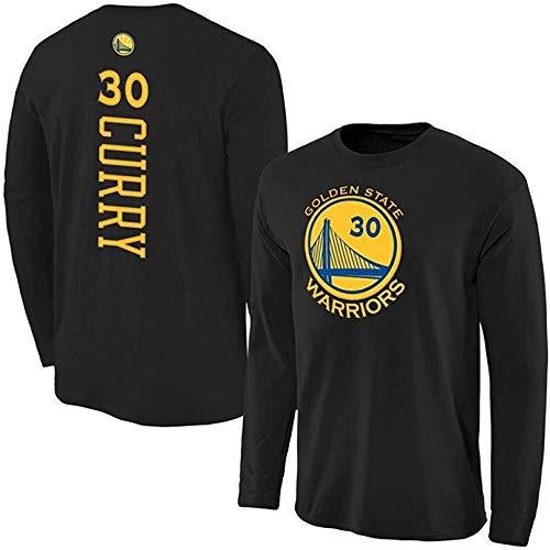 Shelfin NBA Jerseys NBA - Camiseta de manga larga para hombre, diseño de la NBA, color Negro F, tamaño Small