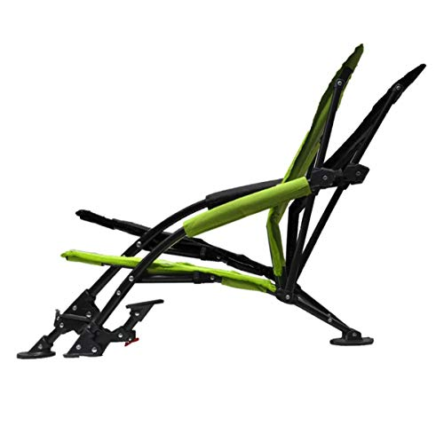 STRONGBACK Low G Recliner Beach Chair Heavy Duty Portable Camping and Lounge Travel Outdoor Seat with Built-In Lumbar Support, Lime Green