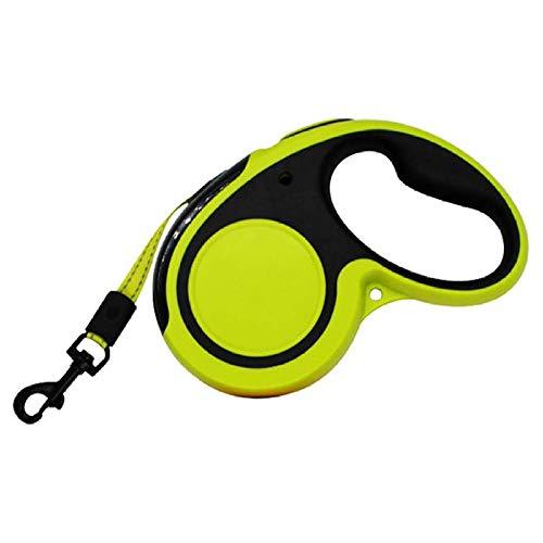 OptimalShops - reflecterende roll lijn 5M intrekbare hondenriem, flexileine honden, wirwar vrij 360 met anti-slip handgrepen, riem langlauflijn hondenriem tot, L-50kg, groen