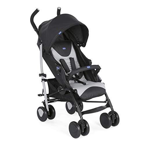Chicco - Poussette Canne Echo Complete - Poussette avec Bumper Bar, Compacte, Inclinable 5 positions  - Stone