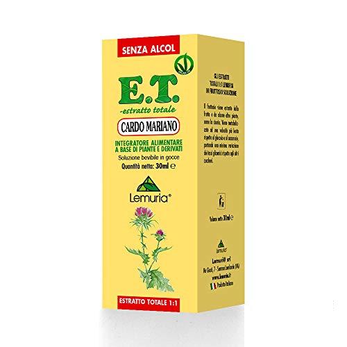 Cardo mariano E.T. Estratto totale 1:1 senza alcol Integratore Alimentare a Base di Piante e Derivati - 30 ml
