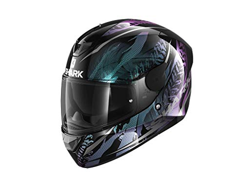 SHARK NC Casco per Moto, Hombre, Negro/Púrpura, S