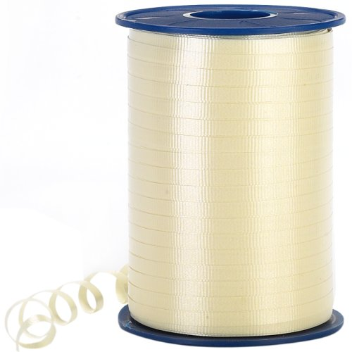 Morex Poly Crimped Curling Ribbon, 3/16-Inch by 500-Yard, Ivory
