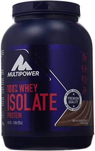 Multipower 100% Pure Isolate Protein - Proteine del Siero del Latte Isolate - Proteina del siero di latte nativa, non denaturata, ultrafiltrataPer lo sviluppo Muscolare - 725 g - Gusto Cioccolato
