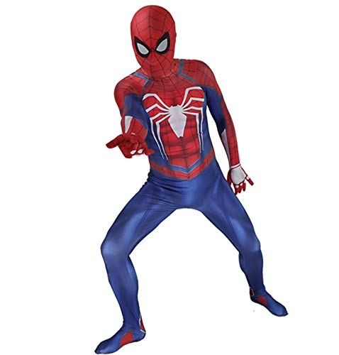 Spiderman kostuum spel cosplay kostuum prop bodysuit jumpsuits outfit party hero vechtpak X-Large volwassenen.