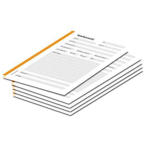 PRICARO - Taccuini tascabili per telefono, formato A6, confezione da 5, colore: Arancione