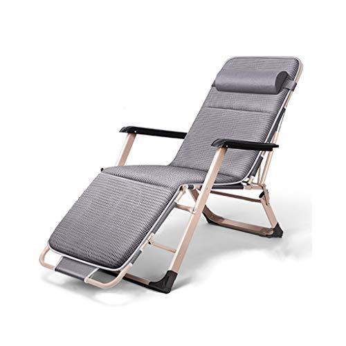 AJZXHEIdea Simple Sillas Plegables, sillones reclinables, sillas reclinables, sillas frías, sillas de Playa, sillas portátiles al Aire Libre, (Color : B)