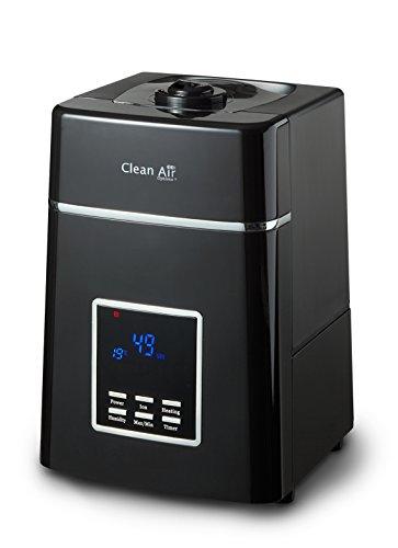 Clean Air Optima Luftbefeuchter mit Ionisator CA-604 Black, für Räume bis 55m²/140m³