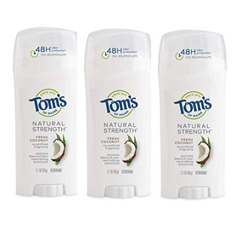 Tom's of Maine Natural Strength Aluminum-Free Deodorant for Women, Fresh Coconut, 2.1 oz. 3-Pack